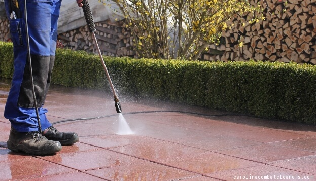 Pressure Washer In Use