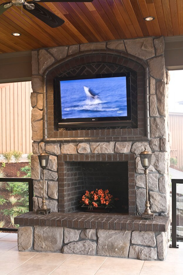 Mounting a tv over a fireplace how to mount tv on wall for Tv over fireplace