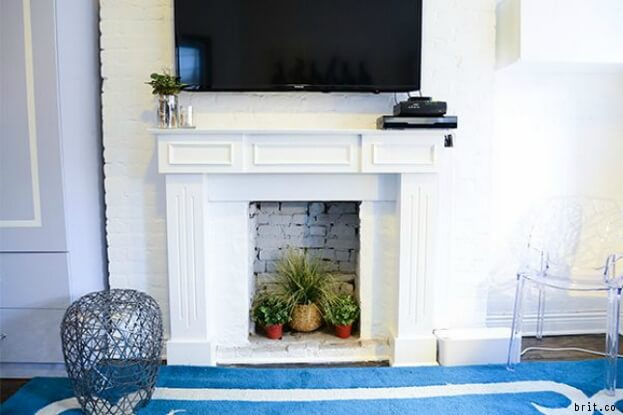 Plants In Fireplace