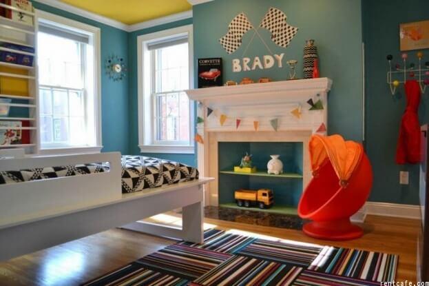 Toy Storage Fireplace