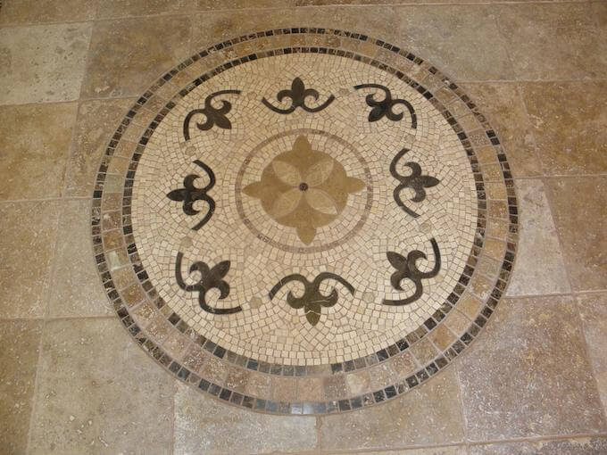 Marble Inlay Flooring Designs : Stone tile floor inlay costs inlays flooring