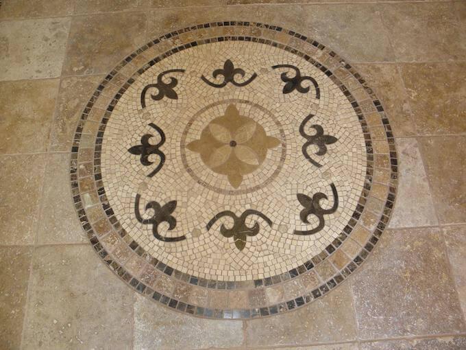 Stone Tile Floor Inlay Designs