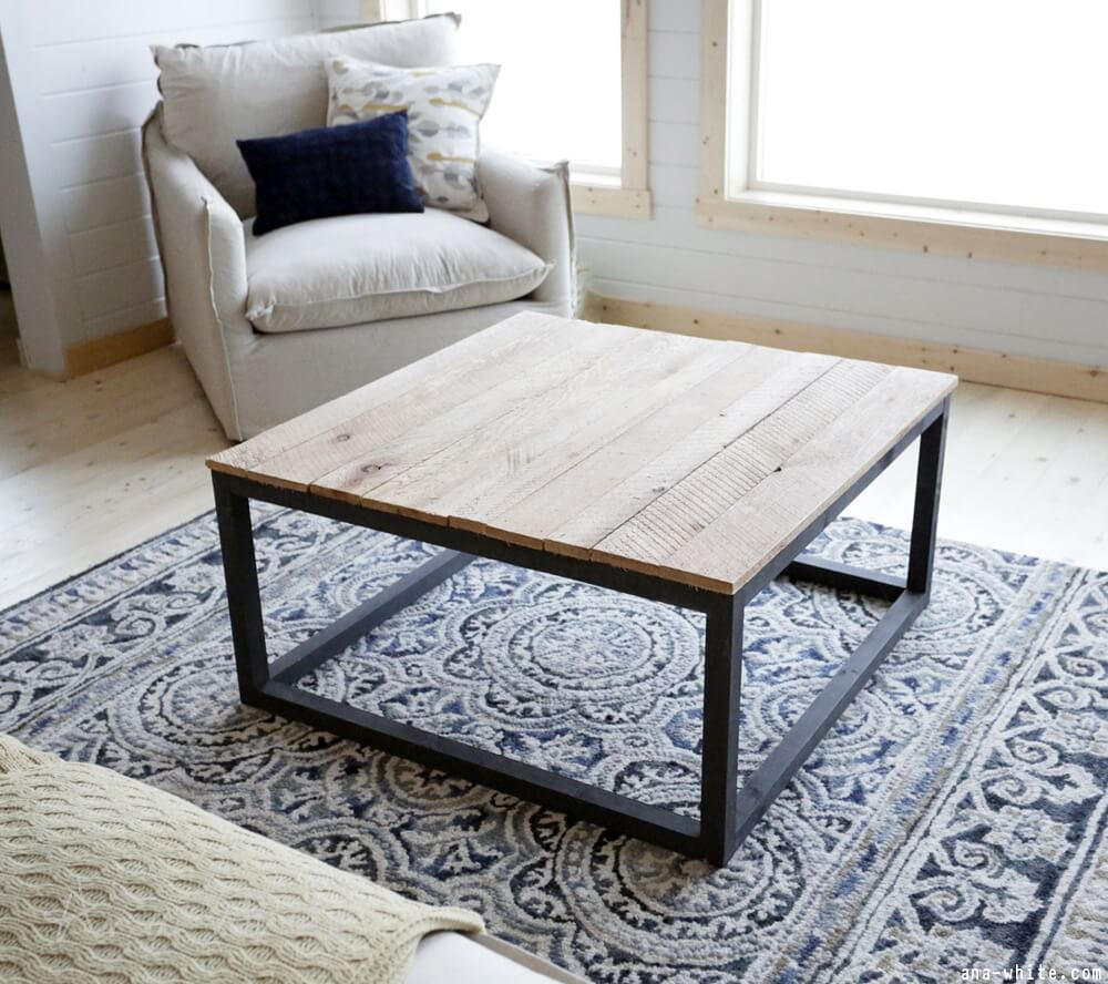 Build Industrial Coffee Table: DIY Coffee Table Ideas