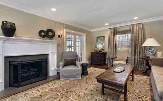 Neutral Rustic Living Room
