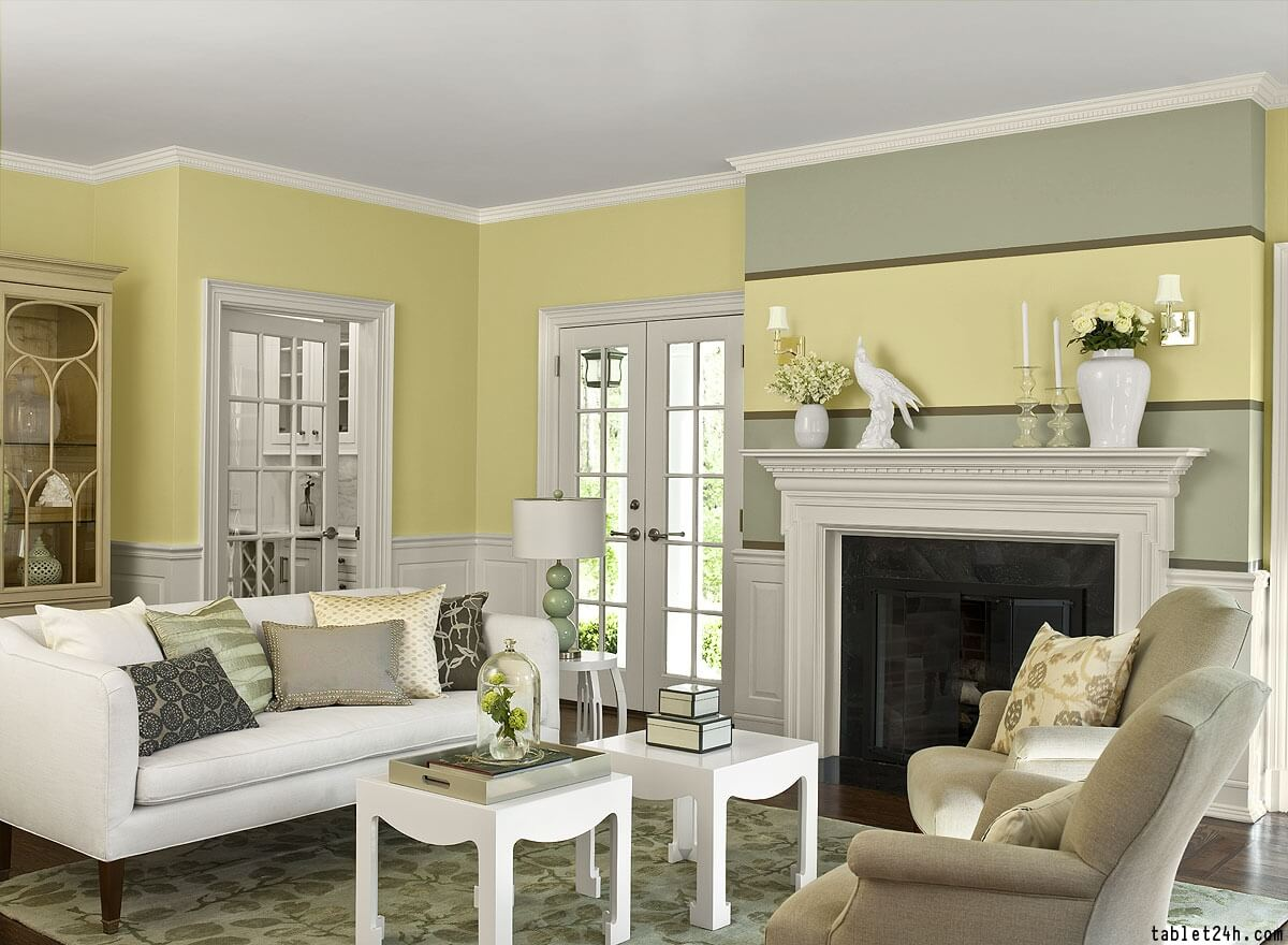 Sunny Living Room Trim