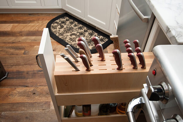 6 kitchen storage trends pullout knife drawer. beautiful ideas. Home Design Ideas