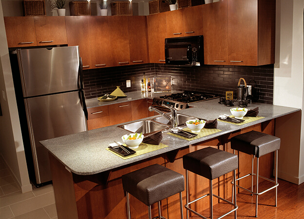 15 small kitchen designs you should copy kitchen remodel for Cafe style kitchen ideas