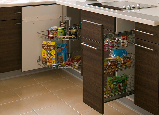 Small Kitchen Storage- Pullout Shelving