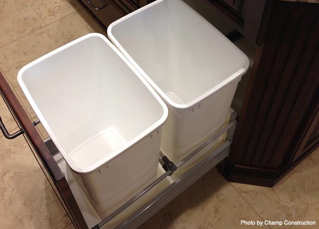 Small Kitchen Storage-Rollout Trash Bin