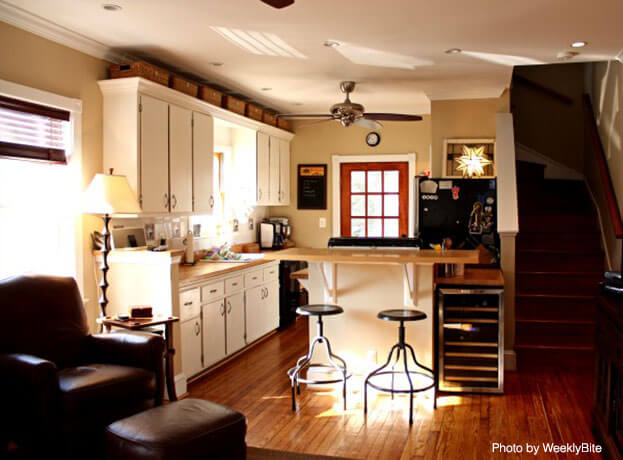11 Small Kitchen Ideas That Make A Big Difference: what to do with space above cabinets