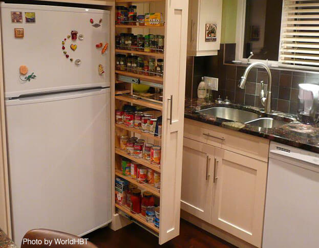Small kitchens Pullout Pantry