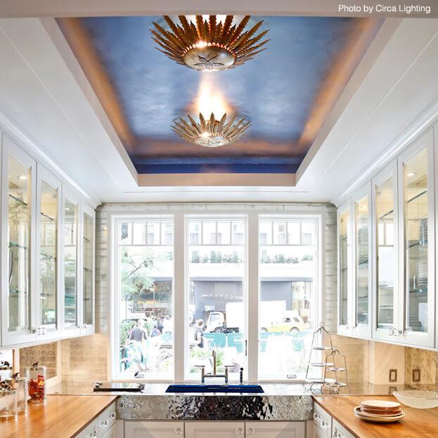 Venetian Plaster Small Kitchen Ceiling
