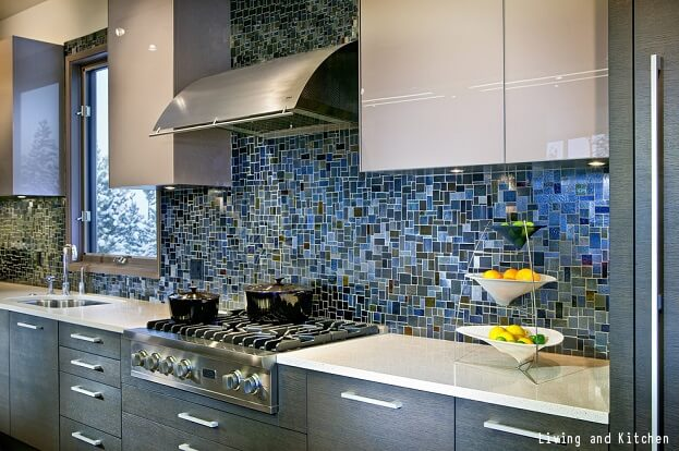 Backsplash Kitchen Blue bold tile design ideas for your kitchen | remodeling
