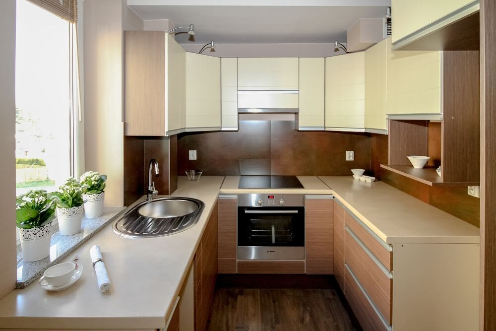 How To Clean Kitchen Countertops  Clean Kitchen -> Kuchnia Retro Jasna
