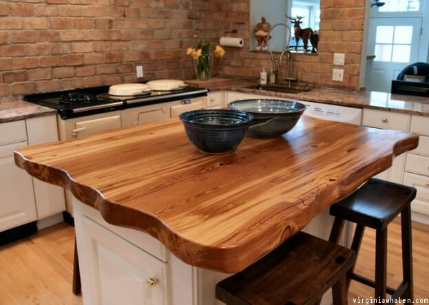 Live edge countertops