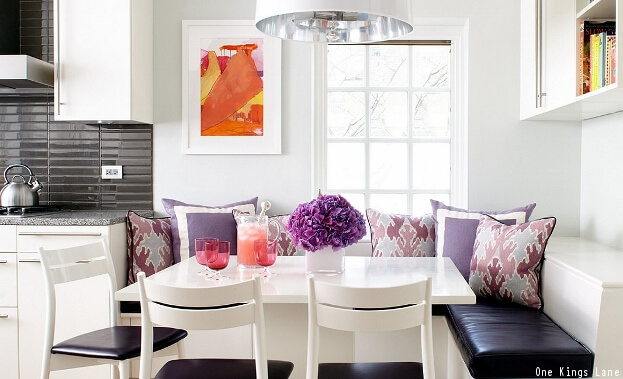 Pop Of Color In Breakfast Nook