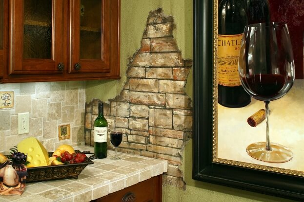 Wine Theme Counter Decor