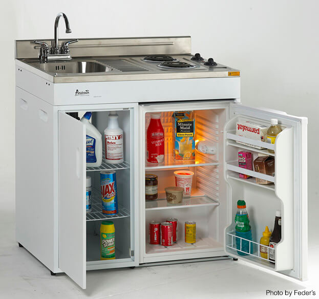 attractive Space Saving Kitchen Appliances #5: Compact Kitchen Appliances - Stove Sink Fridge