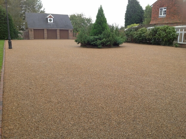 Adding character with gravel driveways