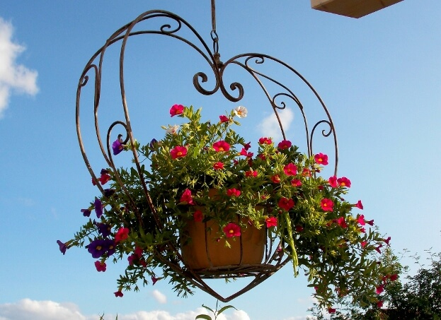 Heart Hanging Flower Basket