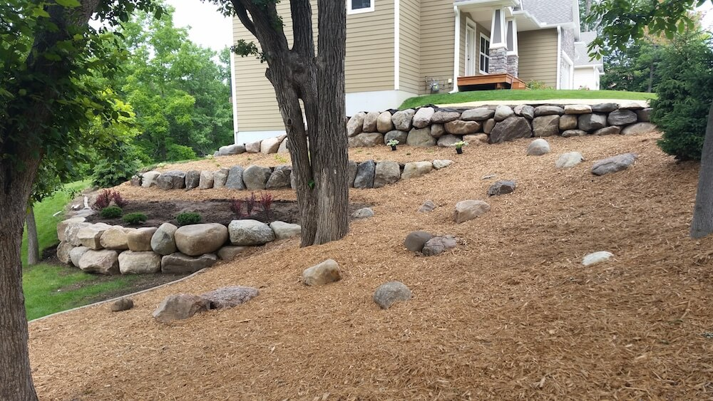2017 landscape boulders cost large landscaping rock prices for Installing river rock landscaping