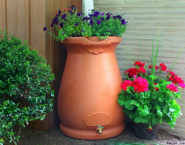 Rain Barrel Decor