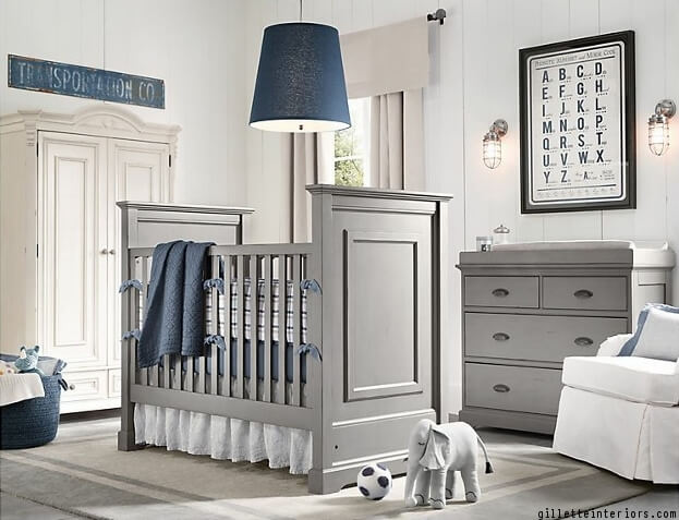 Gray And Blue Nursery