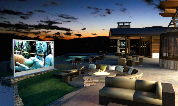 Convert Your Patio Into A Movie Theater