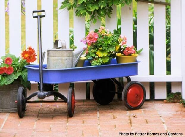 Small Patio - Planter on Wheels