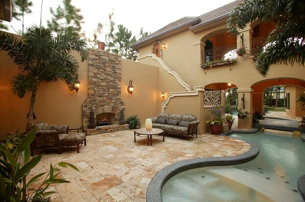 Nice Outdoor Fireplace
