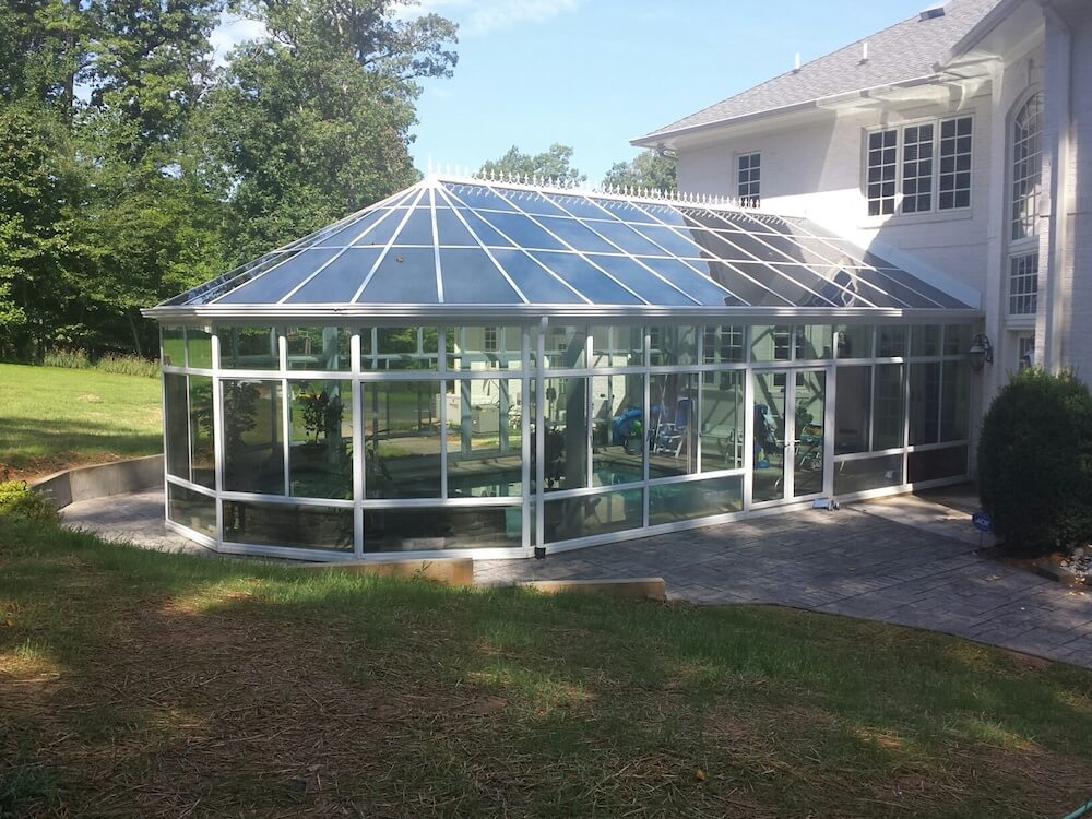 2017 pool enclosure cost screened in pool prices - Swimming pool enclosures ...