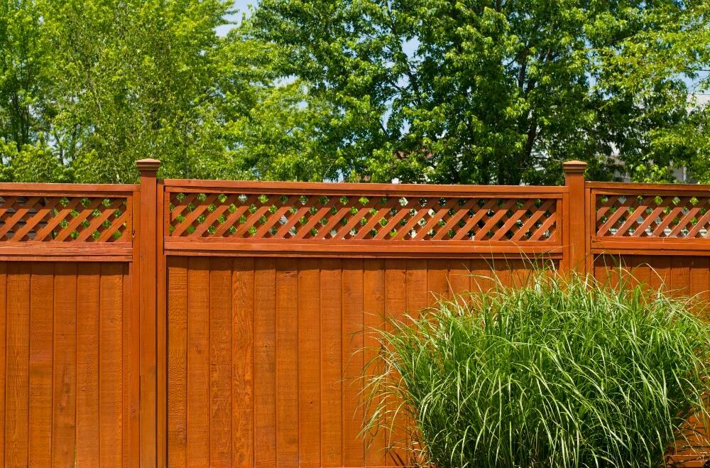 Lattice Privacy Fence - Wood Fence Installation Wood Fence Wood Fence Panels