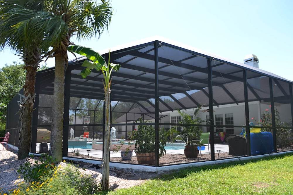 2017 pool enclosure cost screened in pool prices - How much does the average swimming pool cost ...