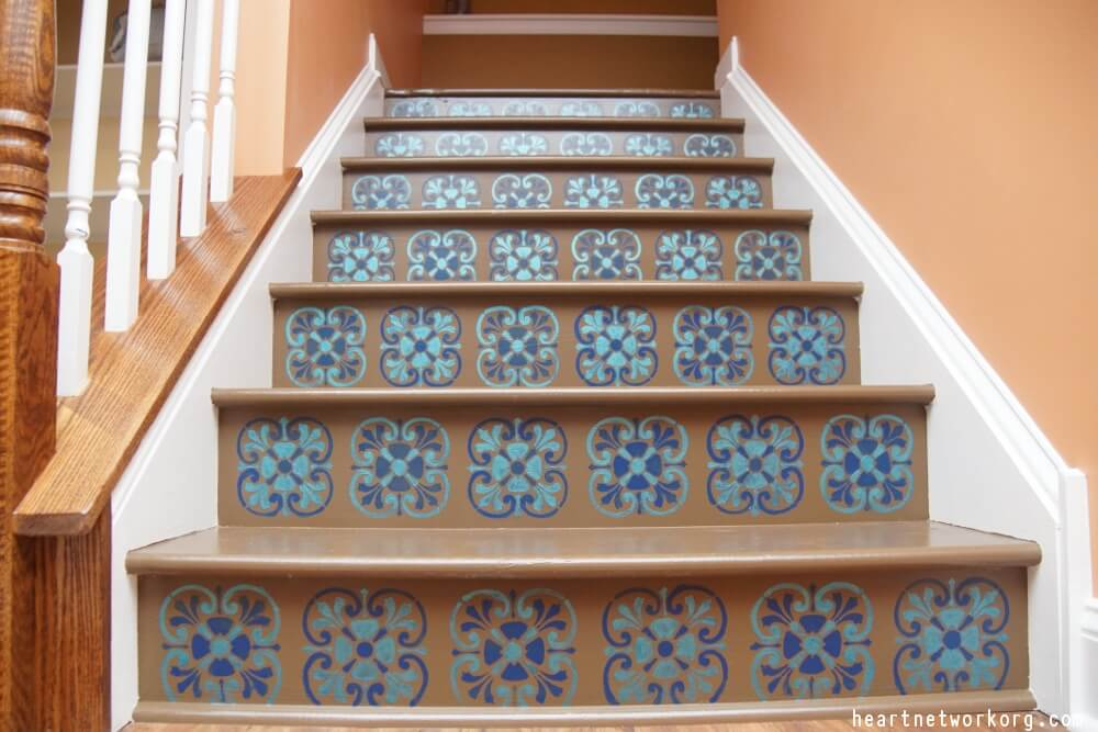 Stencil Stair Risers