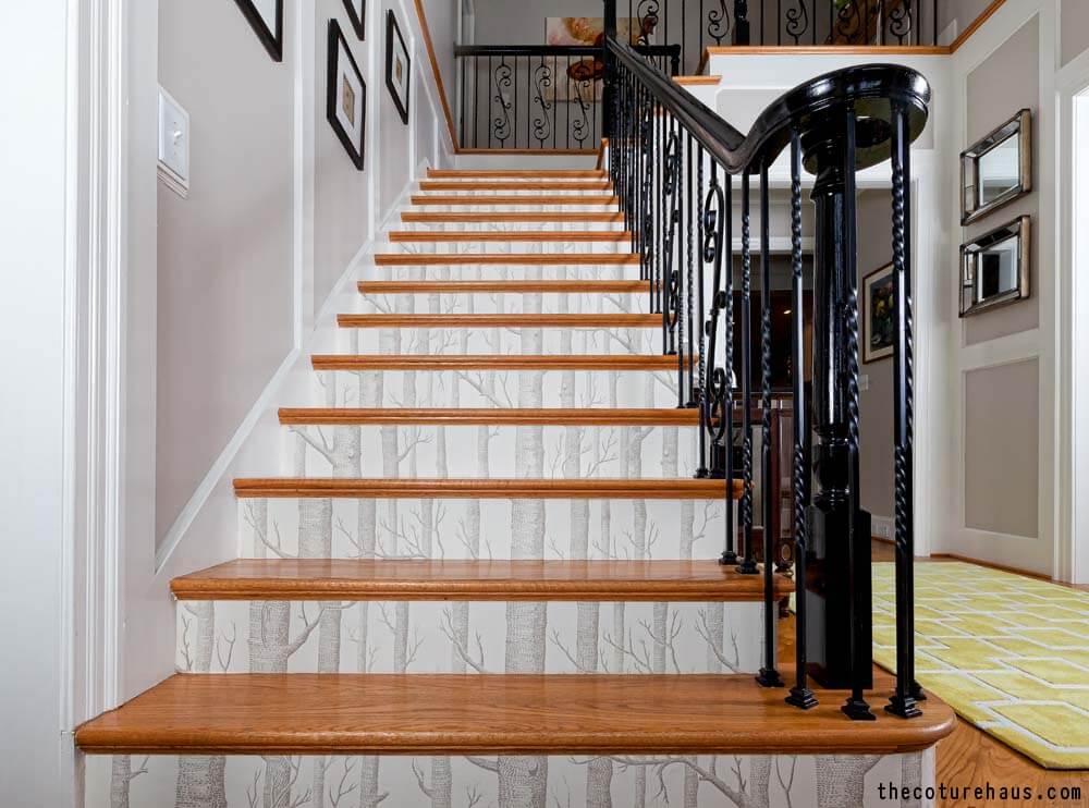 Wallpaper Stair Risers