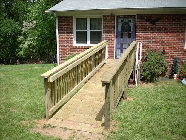 How to build a handicap ramp handicap ramp slope for Handicap stairs plans