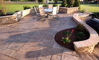 2017 Imprinted Concrete Patio Cost Guide | Installation ... on Cost Of Backyard Remodel id=71402